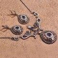 40% Discount Turkish Gold Loyal Blue Vintage Jewelry Sets Joias Turca Jewellery Bijoux Resin Necklace Earrings Set Wholesale