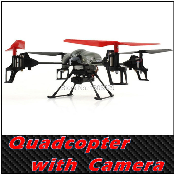 Free Shipping Hot Sell WL Ar.Drone V959 with Camera 2.4G 4CH RC Quadcopter 4-Axis GYRO Remote Control Helicopter  UFO VS X8C