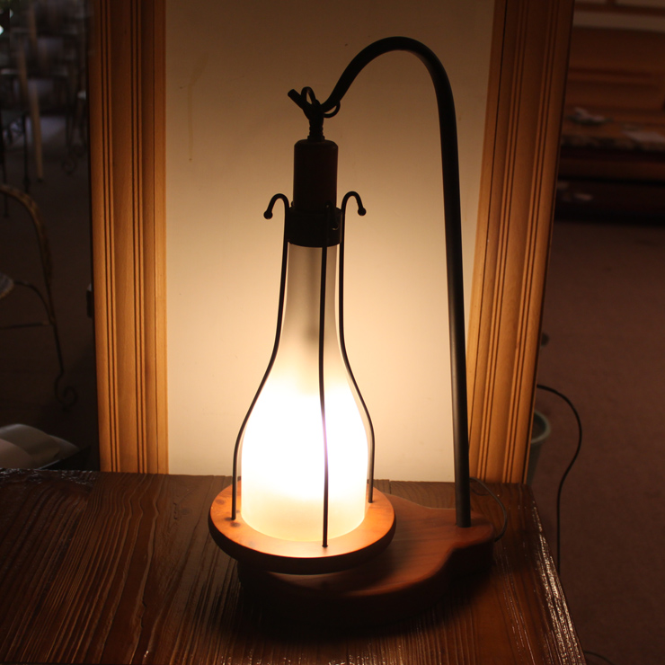 European Style Retro Table Lamps Mediterranean Solid Wood