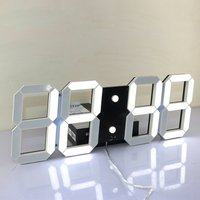 Large Modern Design Digital Led Wall Clock Big Creative Vintage Watch Home Decoration Decor Alarm Temperature