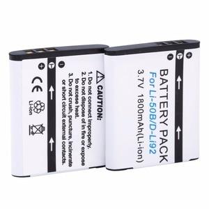 Image 2 - Probty 1800mAh Li 50B Rechargeable Li ion Battery For Olympus Mju 1020 SP 800UZ Stylus 1010 u 1010 Ricoh CX3 CX4 D LI92 DLI92