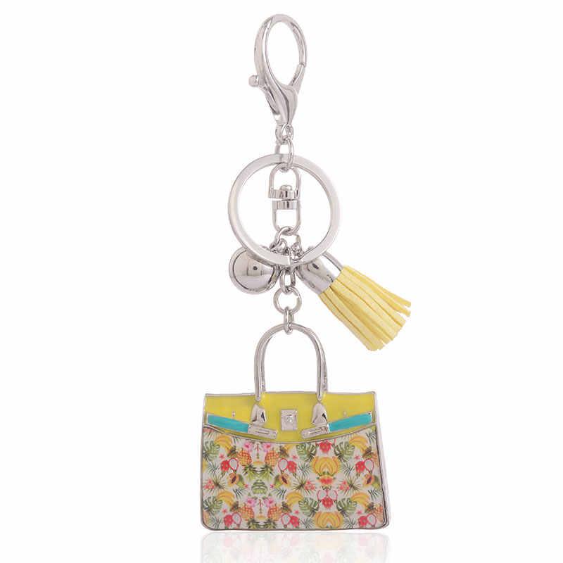 Kẽm Hợp Kim Key Chains đối với Phụ Nữ Cô Gái Hợp Thời Trang Men Bag Key Chain Charm Kim Loại Vòng Chìa Khóa Dễ Thương Hình Dạng Túi Xách Đồ Trang Sức new 2019