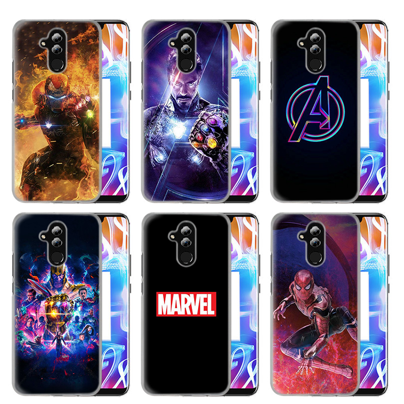 Avengers <font><b>Marvel</b></font> Iron Man <font><b>Case</b></font> Cover For <font><b>Huawei</b></font> Honor P30 P20 Mate 20 10 Y5 Y6 <font><b>Y7</b></font> Prime 8A 8S P Smart Puls Enjoy 9s Lite Pro <font><b>2019</b></font> image