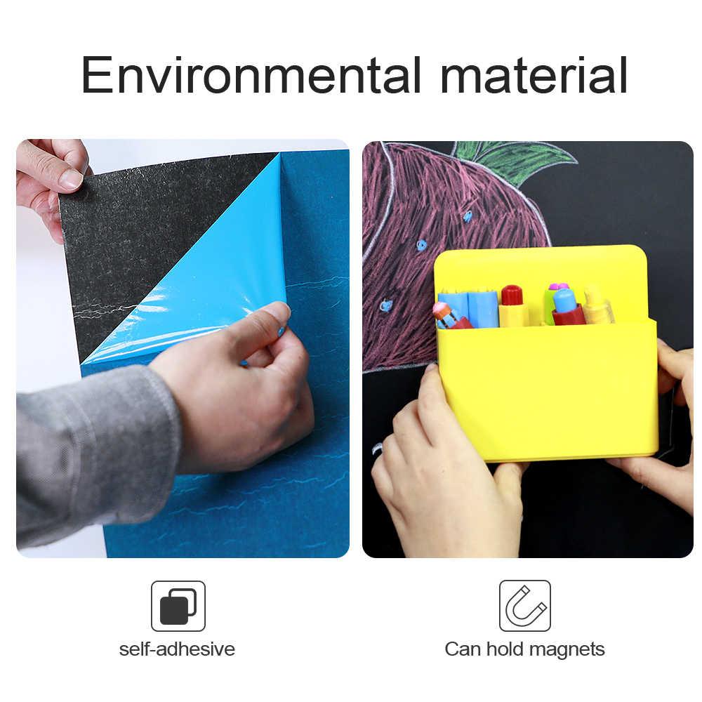 Creativo Giochi Di Disegno di Auto-adesivo Nero Disegno Gesso Bordo di Doodle Giocattolo di Scrittura Pittura Lavagna Giochi Giocattoli Educativi Per Bambini