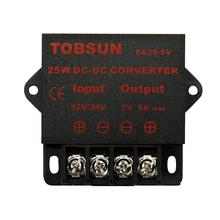 12V 24V to 5V 5A 25W DC DC Converter Step Down Regulator Buck Transformer Voltage Module Universal Power Supply for Car TV LED universal dc 24v to 12v 30a car power converter supply transformer black