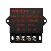 лучшая цена 12V 24V to 5V 5A 25W DC DC Converter Step Down Regulator Buck Transformer Voltage Moudle Universal Power Supply for Car TV LED