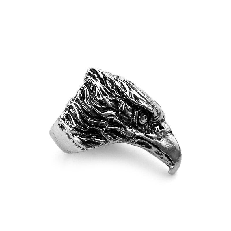 Стимпанк головы орла Байкер кольцо Прохладный ювелирные изделия уникальный подарок для человека старинное серебро покрытие кольца для Для...