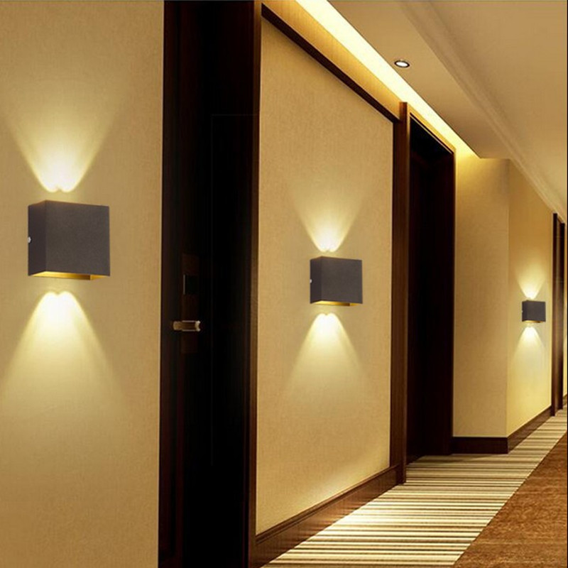Modern 10W LED Wall Light Dual-head Up Down Wall Sconce Living Room Bedside Lamp
