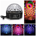 Digital LED RGB Crystal Magic Ball Effect Light Disco DJ Bar Lights For Wedding Party Holiday Rechargeable AC 90-240V stage lamp