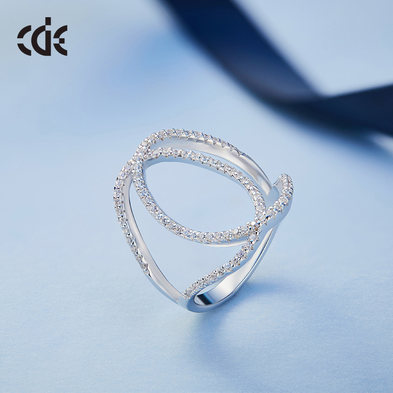 Cdyle Special Women Ring Fashion Wedding Rings Romantic 925 Sterling Silver Elegant Jewelry Austrian Rhinestone Paved Bijous