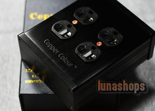 Copper Colour CC B4-B4 Power Socket Strip Black 250V/15A