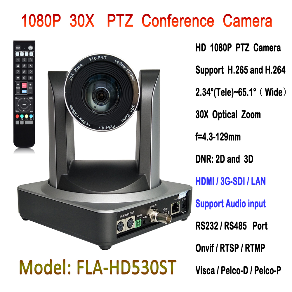 1080p 30X Optical Zoom IP Conference Camera Equipment Audio Video Conferencing HD1080P Medical With 3G-SDI HDMI Outputs image