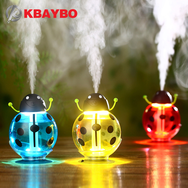 Beetle humidifier USB Humidifier Aroma diffuser Aromatherapy Essential oil diffuser Mini Portable Mist Maker 260ml LED NightBeetle humidifier USB Humidifier Aroma diffuser Aromatherapy Essential oil diffuser Mini Portable Mist Maker 260ml LED Night