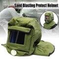 Безопасность шлем для пескоструйной обработки пескоструйную капюшон протектор для пескоструйной обработки