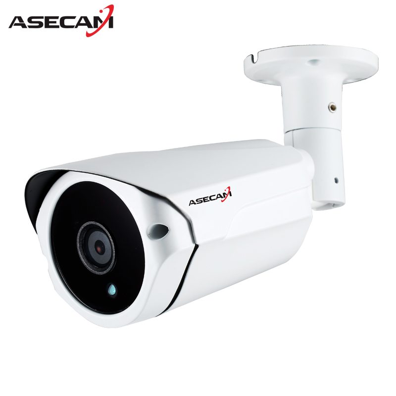 ASECAM IP Camera 1080P H.265 Surveillance POE 48V Security IMX323 CCTV Array infrared Bullet Metal white Outdoor network webcam