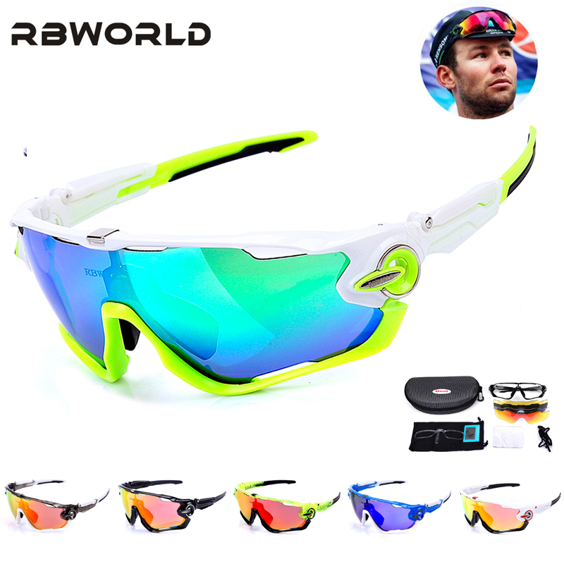 NEW RBWORLD Brand TR90 Polarized  Cycling Glasses Mountain Bike Goggles Sport MTB Bicycle Ciclismo Cycling Eyewear Myopia Frame queshark polarized cycling sunglasses mountain road bike glasses riding bicycle goggles hiking sports eyewear with myopia frame