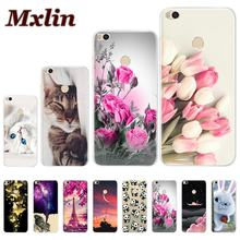 Case For Xiaomi Mi Max 2 Cover Protective Bumper Flower Painting Soft Silicone Back Phone Cover For Xiaomi Mi Max 2 mimax2 Cases(China)