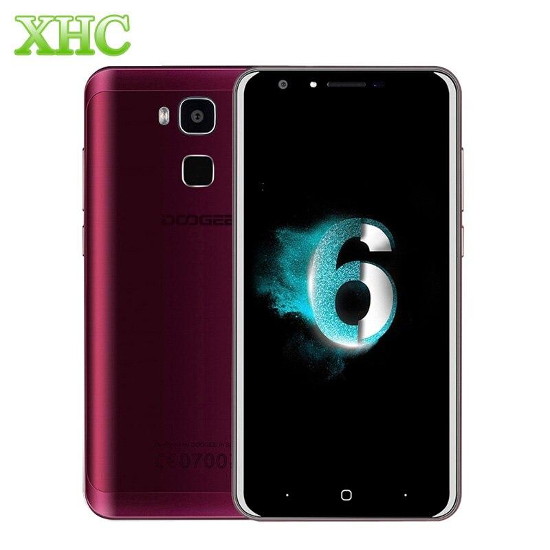 Цена за Y6 16 ГБ lte 4 г отпечатков пальцев смартфон doogee 5.5 дюймов 13.0mp android 6.0 MTK6750 64 битный Окта core ОПЕРАТИВНАЯ ПАМЯТЬ 2 ГБ Dual SIM 3200 мАч Телефон