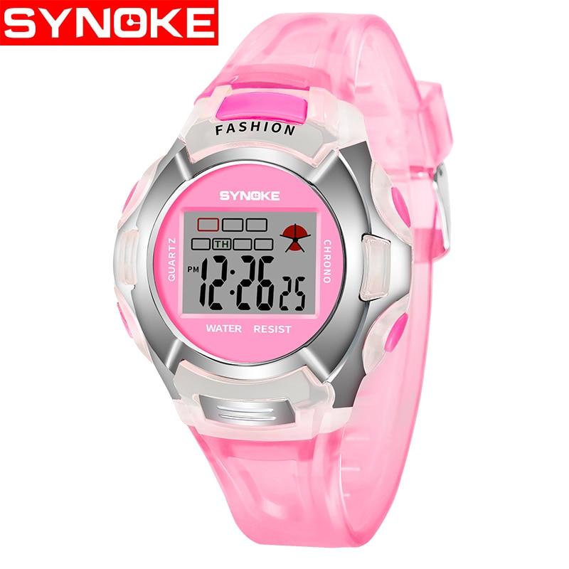SYNOKE LED Digital Watch Children Girls Wrist Watch Kids ...