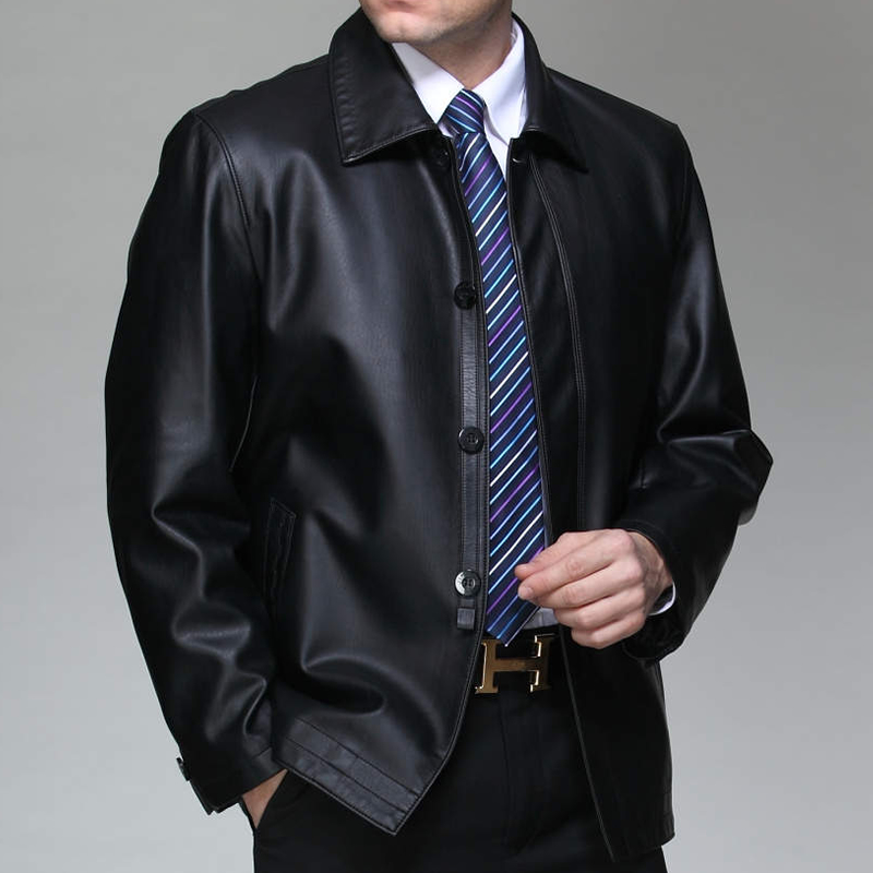 Offre spéciale hommes nouvelle haute qualité en peau de mouton vestes en cuir véritable hommes d'affaires noir moto en cuir manteau veste/M-3XL