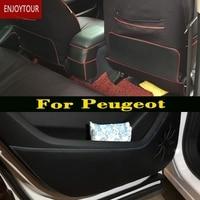 Car Pads Front Rear Door Seat Anti Kick Mat Accessories For Peugeot 206 207 307 308