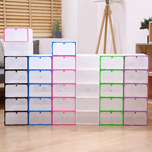 5Pc/Set Foldable Drawer Shoe Box Multifunction Combination Transparent Dust-Proof Storage Boxes Creative Colorful Hook Organizer