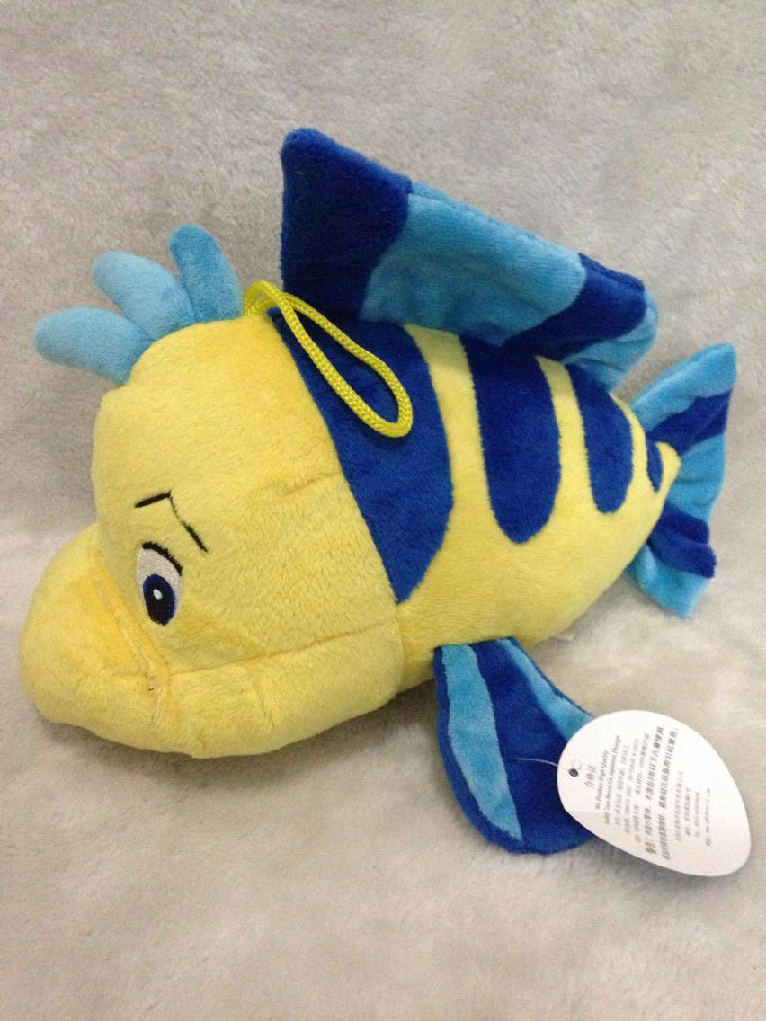 Jumbo Flounder Plush Stuffed Animal Doll Toy From The Little Mermaid Plush Toys 24-27cm