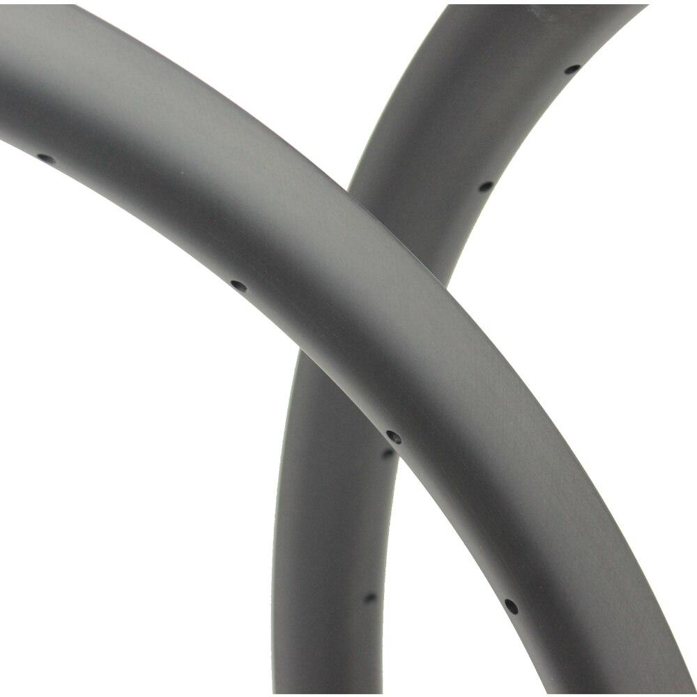 Super peso leve 350 g/peça 33mm largura 29er mtb aro de carbono sem câmara de ar pronto para xc cross country mountain wheels jantes assimétricas - 3