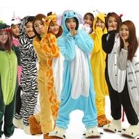 Pajama Sets Unicorn Stitch Giraffe Unisex Pajamas Adults Cosplay Childhood Cartoon Animal Onesies Sleepwear Hoodie For