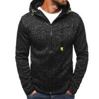 NEW Spring Men Fleece Hoodies Jacket Mens Contrast Color Slim Zipper Pocket Sweatshirt Casual Autumn Plus