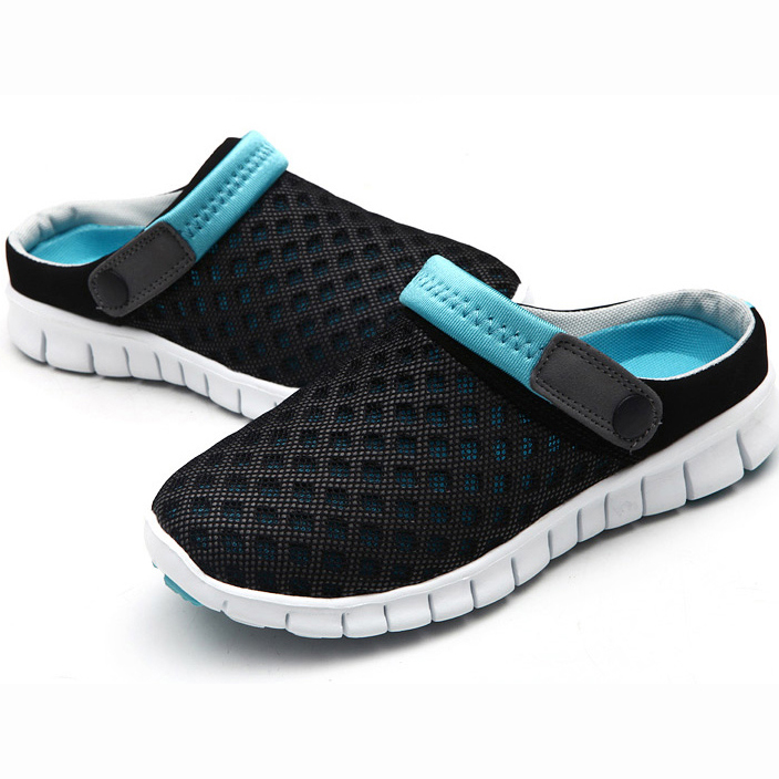 Men Summer Sandal Mesh Breathable Padded Beach Flip Flops Shoes Unisex Non-slip Light Lovers Sandals Homme Lazy Shoe suihyung design new women and men summer flat shoes hit color breathable hollow beach slippers flips non slip unisex sandals