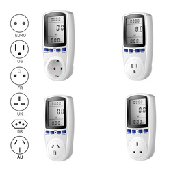 EU US UK Plug Socket Digital Voltage Wattmeter Power Consumption Watt Energy Meter KWh AC 230V 120V Electricity Analyzer Monitor