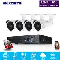 Super SONY 5mp CCTV Surveillance Kit 5mp Security Camera System 4ch DVR 5MP Video Output Kit 40m night vision camera HDMI P2P