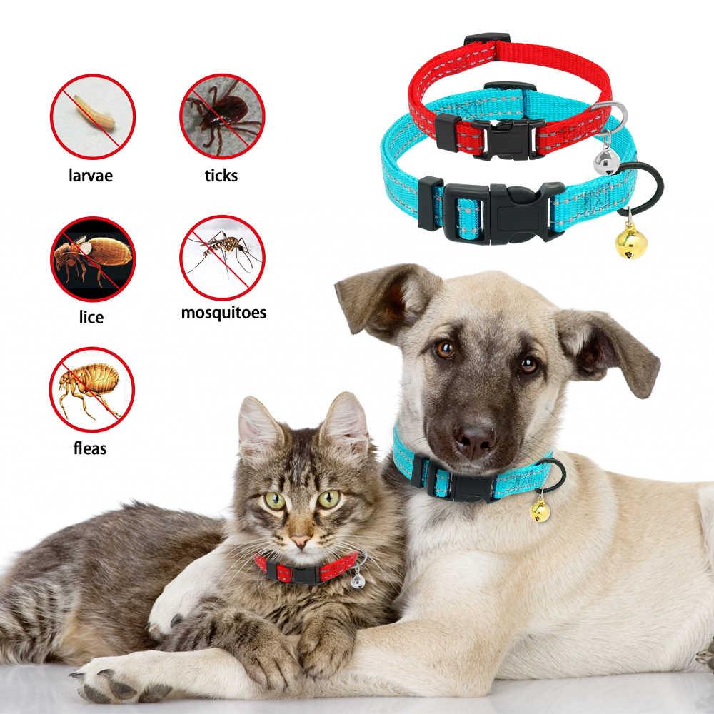 Ошейник для блох и клещей, Светоотражающий ошейник для собак, кошек, блох, ошейник для защиты от вшей, вредителей, паразитов, Deworming для маленьких собак, кошек