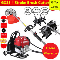 Backpack Brush Cutter Grass Cutter with GX35 4 stroke 35cc tiller Engine Multi Brush Strimmer Tree cutter cultivator