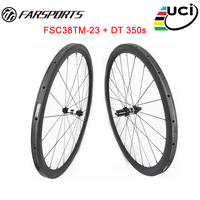 Chinese Carbon Tubular Wheelset 38mm X23mm For Racing Full Carbon Fiber Black Carbon Wheels UD Matte