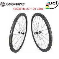 Chinese Carbon Tubular Wheelset 38mm X23mm For Racing Full Carbon Fiber Black Carbon Wheels UD Matte