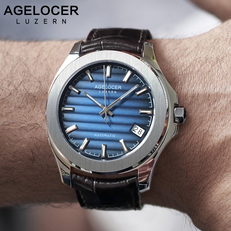 AGELOCER Swiss Men Watch Top Brand Luxury Male Waterproof Power Reserve 80 Hours Automatic Wrist Watch Blue Clock relogio цена и фото