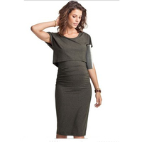 MAGGIE S WALKER Maternity Dresses Pregnant Women Party Evening Dress Nursing Breastfeeding Dress Maternity Plus Size