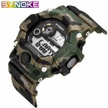 SYNOKE, военные спортивные цифровые часы для мужчин, светодиодный, водонепроницаемые часы, ударные наручные часы для мужчин, s цифровые часы, Топ бренд, роскошные часы