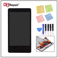 Black For Nokia Lumia 800 Phone LCD Display Monitor Touch Screen Panel Digitizer Frame Glass Assembly