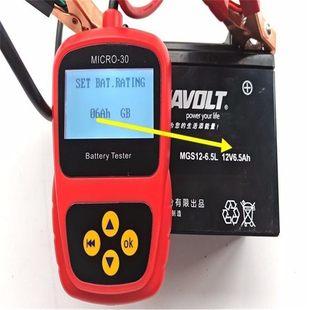 LANCO MICRO 30 Motorcycle Battery Tester LCD Display 12V Battery Life Analyzer 30 200CCA Tester And