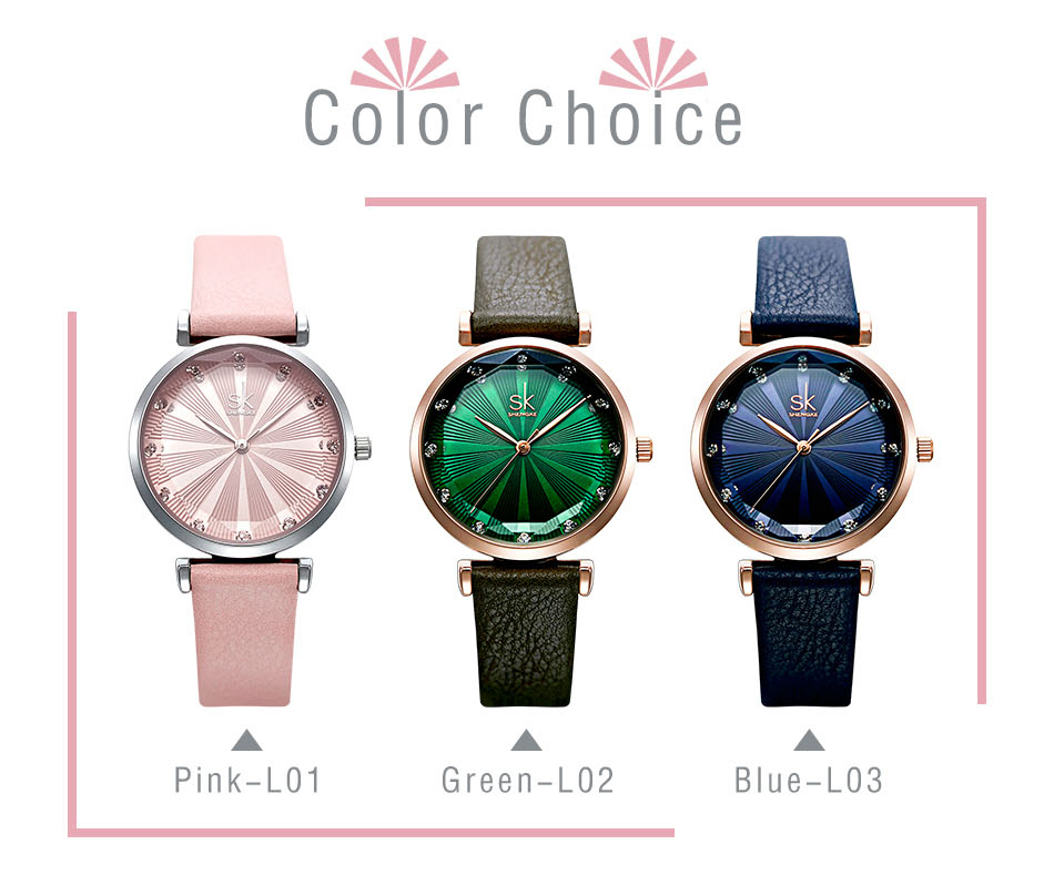 SK Luxury Brand Leather Ladies Wrist Watches Women Prism Quartz Watch For SHENGKE Female Clock reloj mujer 2019 relogio feminino (4)