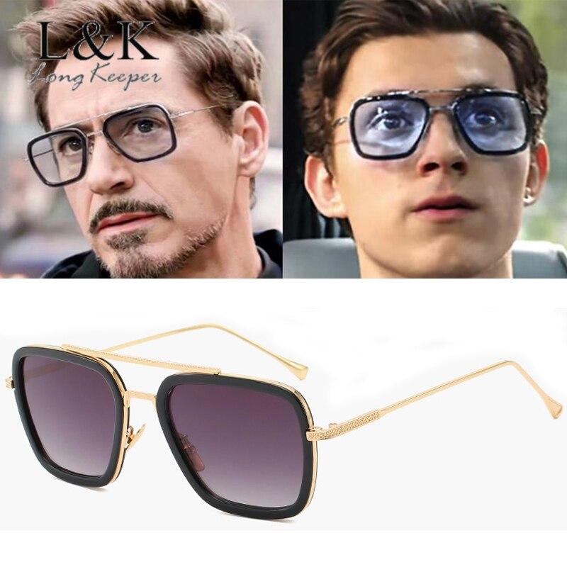 Steampunk Men Sunglasses Tony Stark Iron Man Sunglass Retro Vintage Eyewear Steam Punk Sun Glasses UV400 Oculos De Sol