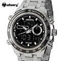 Infantry quartzo relógios homens luxo marca aço inoxidável analógico digital relógios relogio masculino exército relógios desportivos à prova d' água