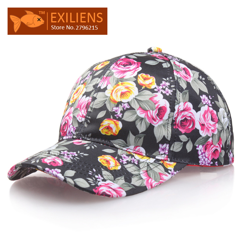 [EXILIENS] 2017 New Fashion Brand Cotton Small Floral Snapback Caps Strapback Baseball Cap Bboy Hip-hop Hat For Men Women Fitted 2016 new new embroidered hold onto your friends casquette polos baseball cap strapback black white pink for men women cap