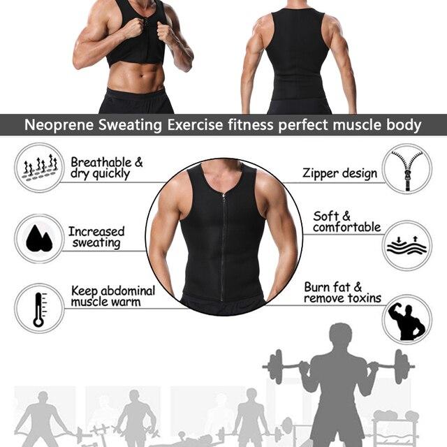 Miss Moly Men Body Shaper Neoprene Shapers Promote Sweat Waist Trainer Tummy Slimming Shapewear Male Modeling Belt Losing weight 3