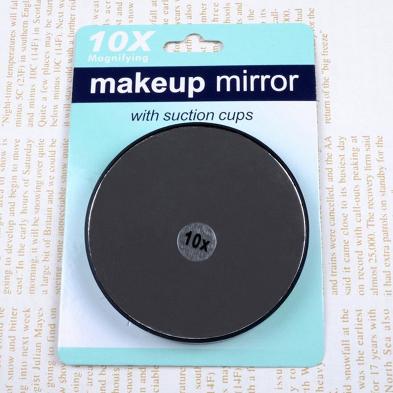 Lady Portable Mirror 10x Magnifying Makeup With Two Suction Cups Round Mini Tools H7jp In Mirrors From Beauty Health On