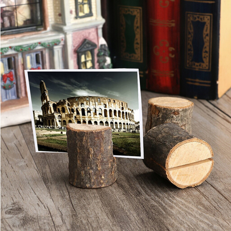 Event & Party 10pcs/pack Wooden Stump Shape Wedding Party Reception Place Card Holder Stand Number Name Table Menu Picture Clip Card Holder Spare No Cost At Any Cost