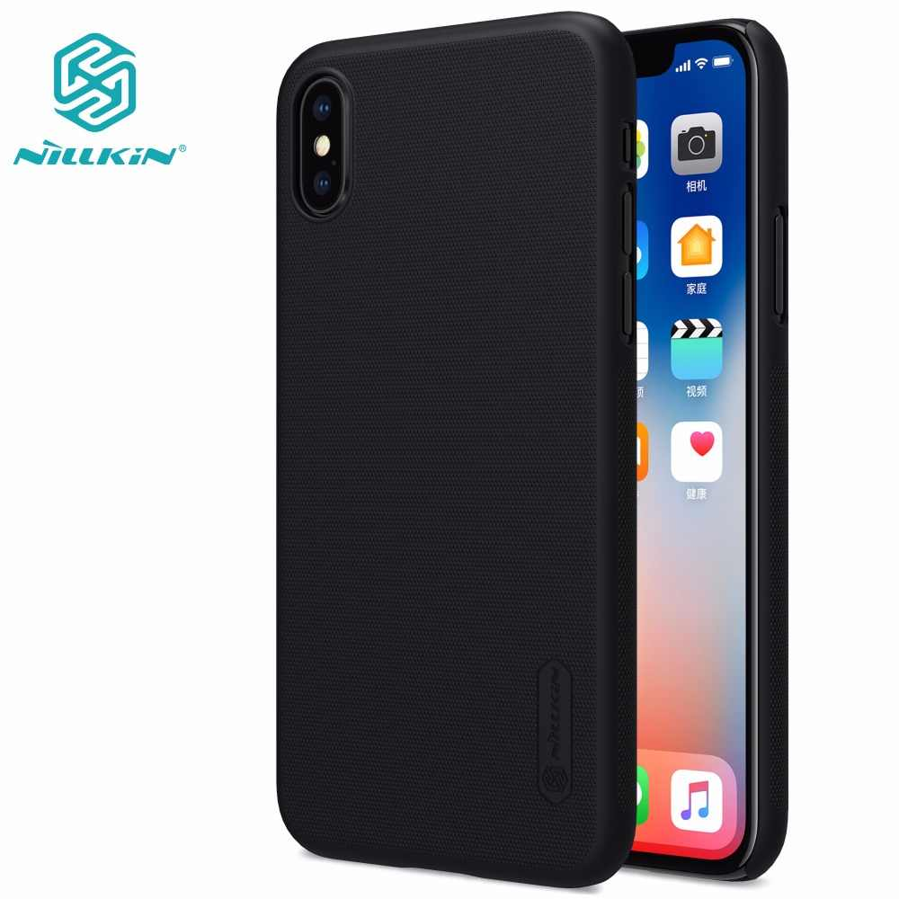 Capa para iphone xs max x xr 8 plus nillkin super fosco escudo caso capa traseira para iphone xs